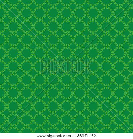 Circular pattern of st. patrick day, ireland clover, irish shamrock