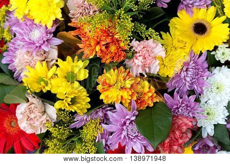 Bunch of flowers for background close up