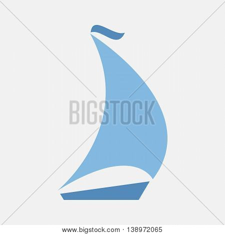 boating logo ship emblem vector sailing icon sailboat