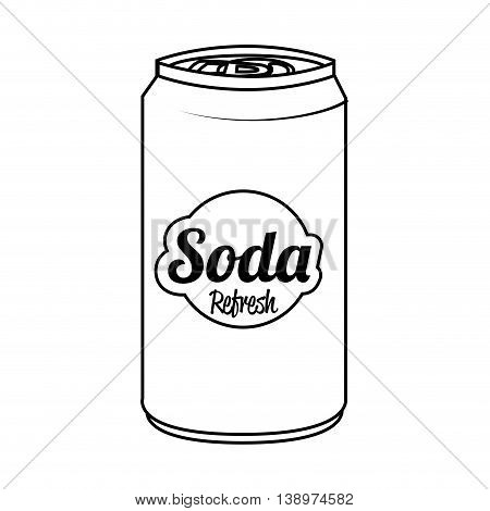 Soda can isolated flat icon, vector illustration graphic.