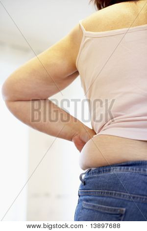 Detail Of Overweight Woman