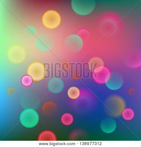 Colorful Bokeh Background. Blurred Wallpaper. Vector Illustration