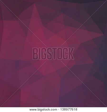 Polygonal Background. Can Be Used In Cover, Book Design, Website Backdrop. Vector Illustration. Purp