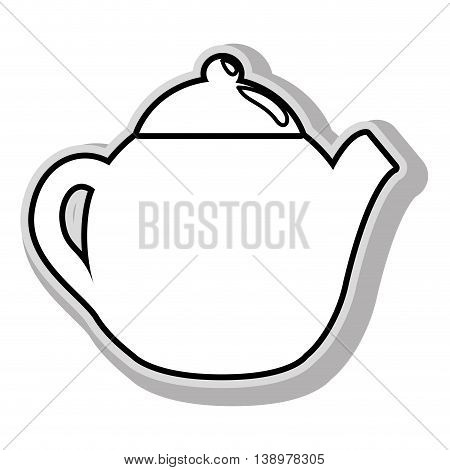 Drink flask jug in black and white colors, isolated flat icon.