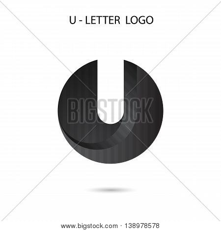 U-letter icon abstract logo design.U-alphabet symbol.Vector illustration