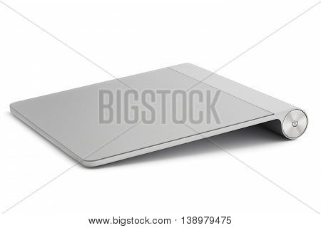 Computer trackpad isolated on white background .