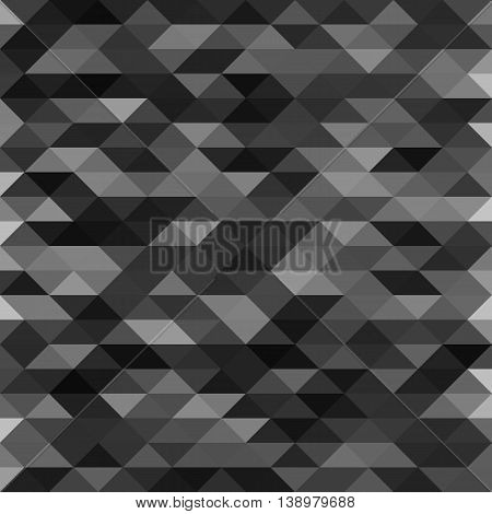 Isolated abstract black lowpoly designed vector background. Polygonal elements backdrop. Translucent overlays wallpaper. Decorative tile illustration.