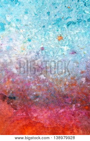 Rainbow Watercolour Background 6