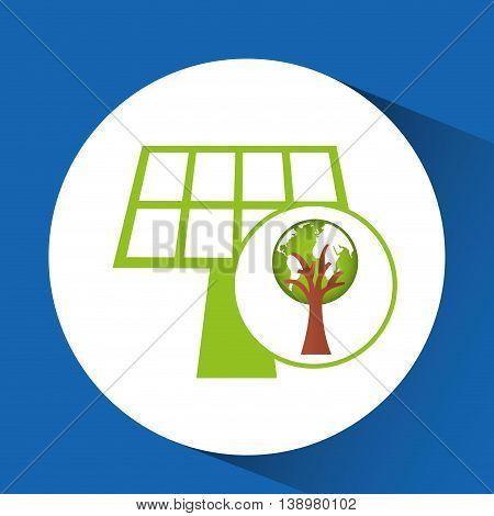 ecology enviromental eco nature isolated, vector illustration