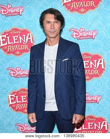 LOS ANGELES - JUL 16:  Lou Diamond Phillips arrives to the Disney Channel's