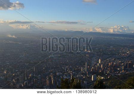 Aerial View of Bogota from Cerro de Guadalupe