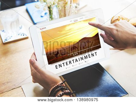 Entertainment Streaming Media Channel Multimedia Concept