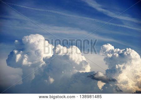 cloud on the sky background, storm cloud accumulating in sky