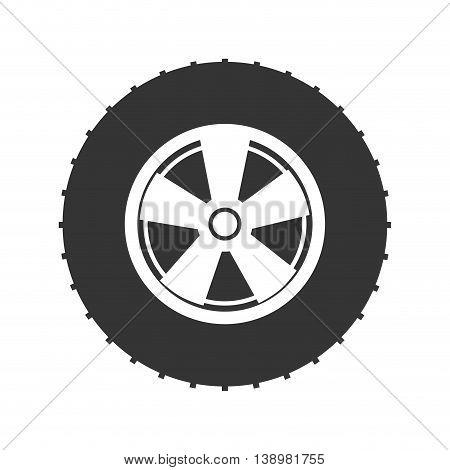 wheel tire car , isolated flat icon design