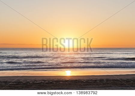 Gold Coast Australia beach sunrise over ocean