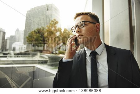 Telecommunication Talking Business Corporate Concept
