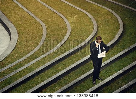 Appointment Punctuality Businessman Checking Concept
