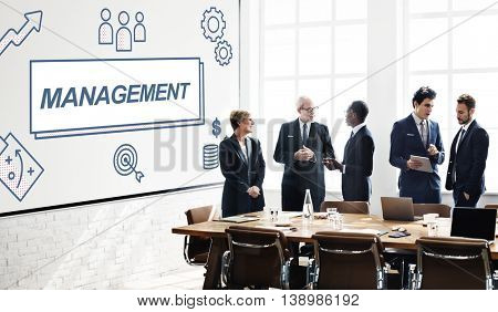 Management Business Leader Coordination Graphic Concept