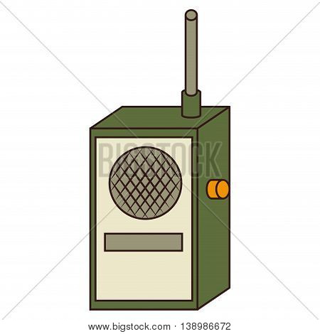 Radio transmitter device , isolated colorful icon design