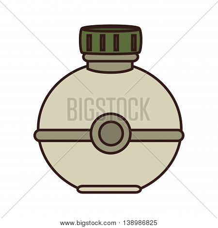 Water bottle object , isolated colorful icon design