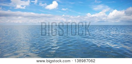 Sea and sky. Nature composition