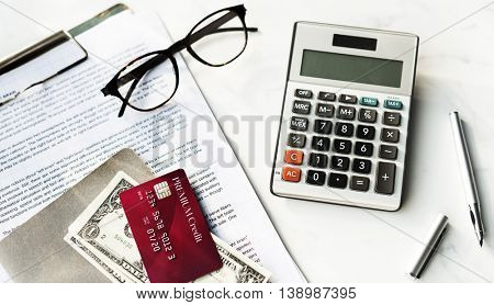 Calculator Money Credit Card Payment Finance Accounting Concept