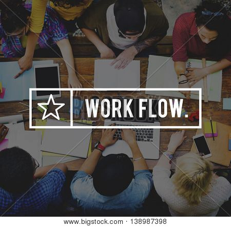 Workflow Efficiency Effective Business Planning Concept