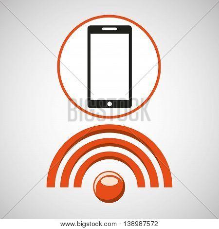 Wifi technology app isolated, vector illustration eps10