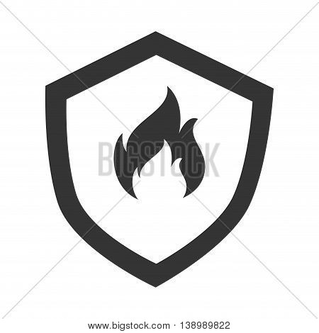 Flammable badge sign, isolated flat icon design