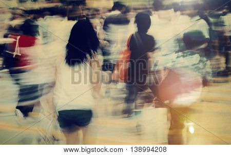 People Pedestrian Commuter Busy Concept
