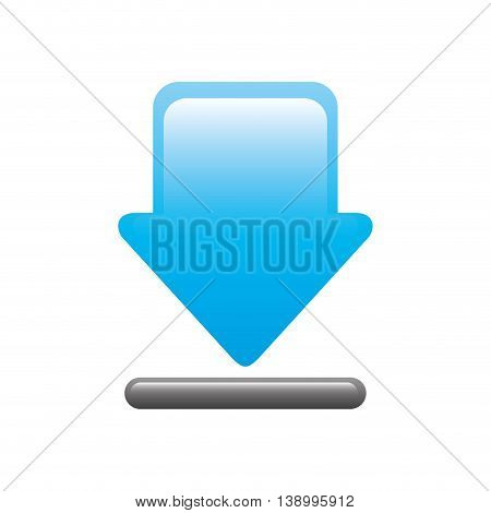 download web signal, downloading blue icon,  isolated vector illustration