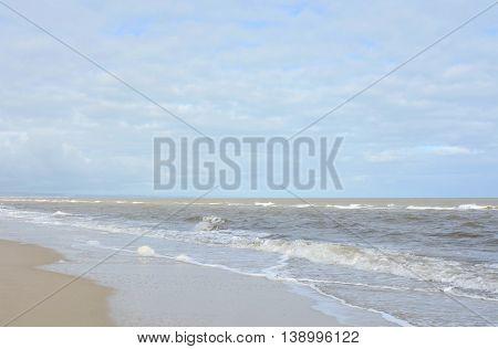Beach Landscape In Soft Colors.