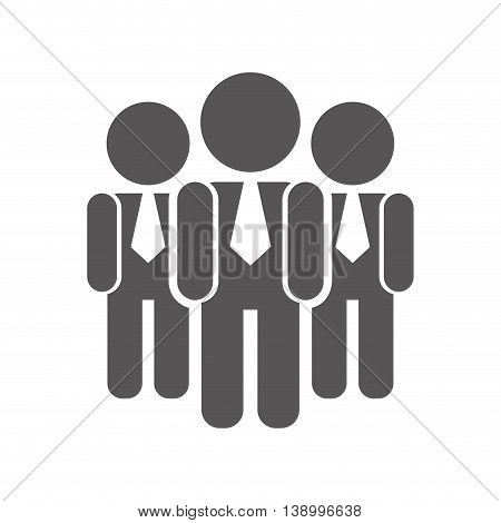 man group of executives,  isolated vector illustration