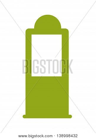 petrol pump green,  isolated vector illustration eps10