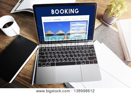 Hotel Booking Reservation Travel Reception Concept