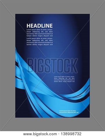 business corporate backgrounds flyer. flyer, brochure or magazine cover template