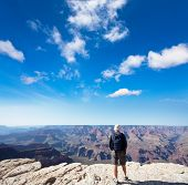 pic of grand canyon  - Tourist in Grand Canyon - JPG