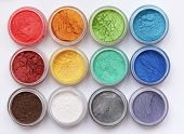 picture of minerals  - Set of colorful mineral eyeshadows - JPG