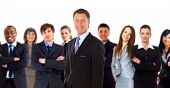 foto of team  - Young attractive business people  - JPG
