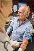 stock photo of blood test  - Middle Aged Man Having Blood Test Done - JPG