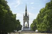 Tourists In Front Of Albert Memorial, London, England poster