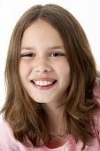 foto of ten years old  - Portrait Of Smiling Young Girl - JPG
