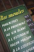 Постер, плакат: Меню платы за пределами Бельгии Ресторан