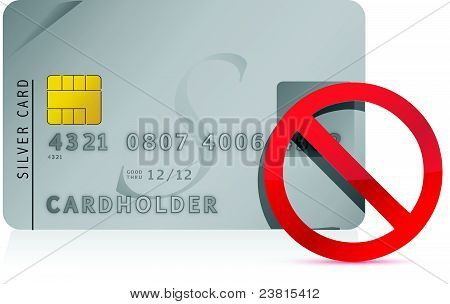 declined Credit Card illustration design