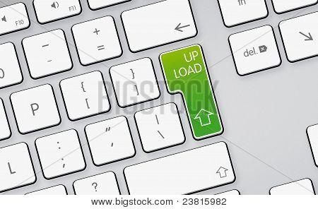 Upload Arrow Icon, Button On White Keyboard