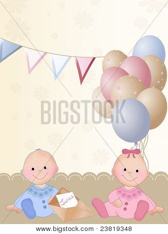 Happy birthday for twins