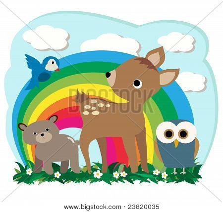 Cute Forest Animals Cartoon