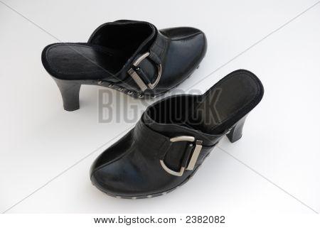 Black Buckle Stilletos