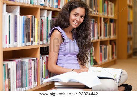Happy Student With A Book