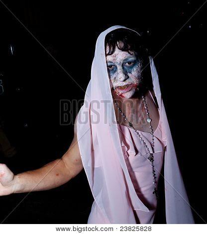 Bride Zombie at a Zombie Walk
